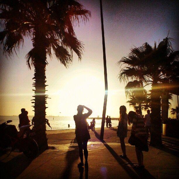 Saint Kilda beach, just outside of the Republica.