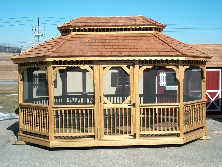 In Vogue Single Roof Rectangle Enclosed Gazebo With Wooden: 17 Best Images About Gazebo File On Pinterest