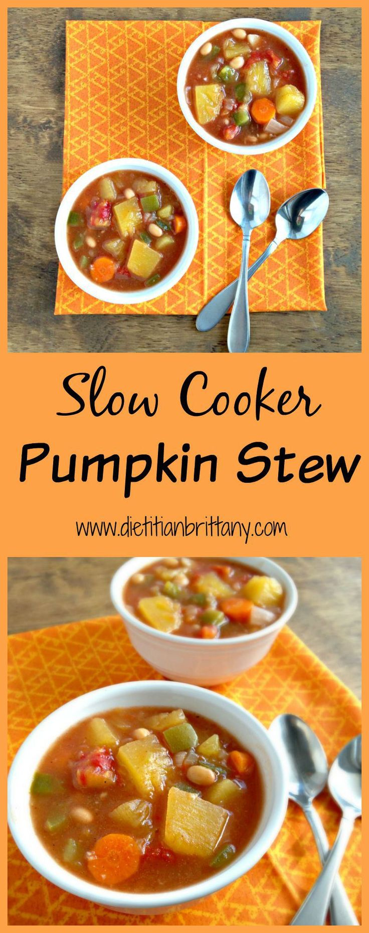 Slow Cooker Pumpkin Stew - with REAL pumpkin! SO easy and yummy!