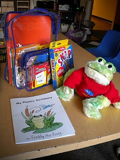 Classroom pet Freddy the frog... with theme song, journal, take-home activities, etc.