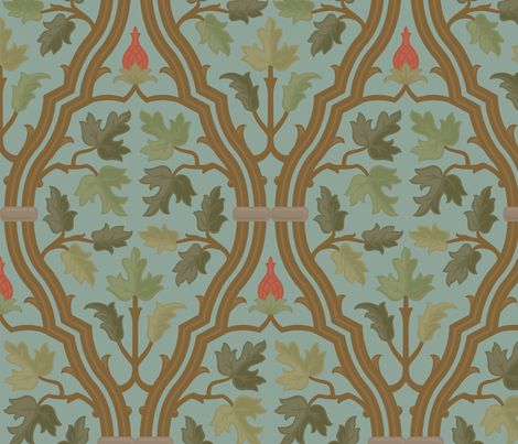 Forest Serpentine 2b fabric by muhlenkott on Spoonflower - custom fabric