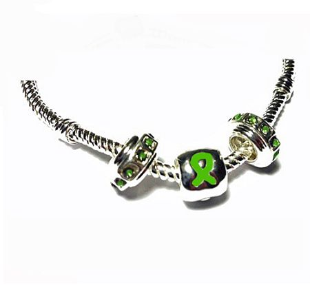 brain beads sterling silver | Pandora Style Traumatic Brain Injury Awareness Silver Charm Necklace