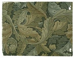 Morris designed over 50 wallpapers, and his firm produced a further 49 by other designers including George Gilbert Scott (usually credited with Indian), Kate Faulkner (Carnation), and J.H. Dearle (Compton). Every pattern employs plant form, whether expressed in a luxuriant naturalism (Acanthus, Pimpernel, Jasmine) or a flatter, more formalised style (Sunflower). In common with many of the writers offering advice on home decorating, Morris maintained that the choice of wallpaper must…