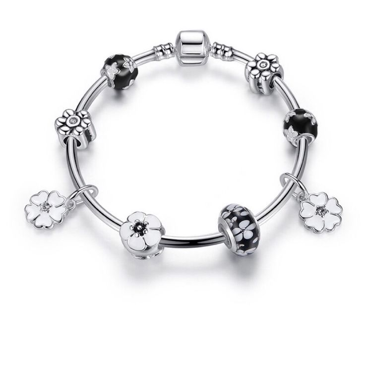 Check out Silver flower charms bangle bracelet  for $22.00. Get it on Shopee now! http://shopee.sg/les.fashionista/136887472 #ShopeeSG