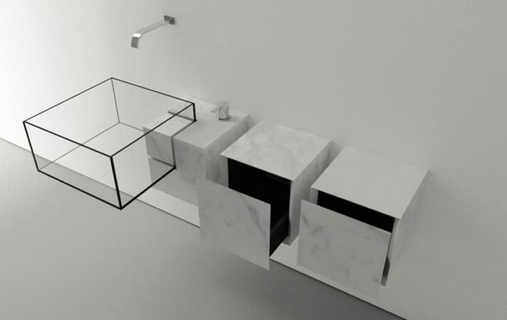 Almost Invisible Minimalist Kub Bathroom Sink by Victor Vasilev