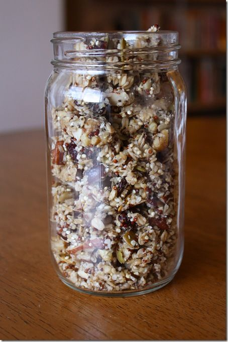 quinoa granola.  hungry hungry hippie here.