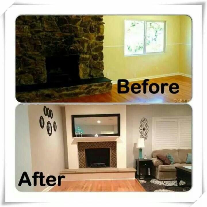 Before and after remodel for a customer.