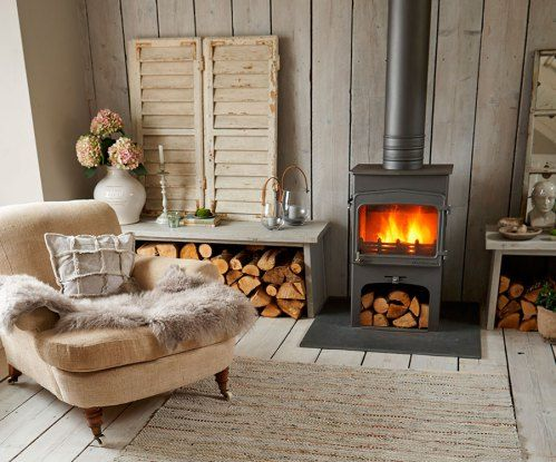 Nordic House Fireplace and armchair   Cosy   Style Made Simple
