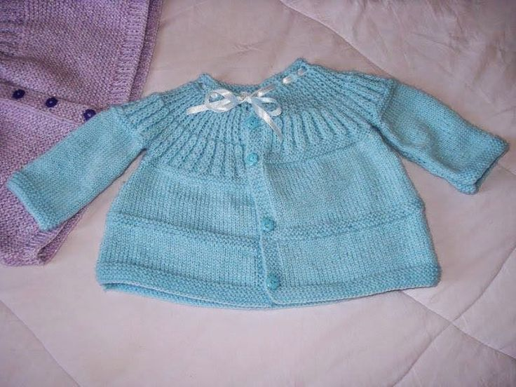 Casaquinho Bebê Tricô Super Fácil ~ A Tricoteirinha