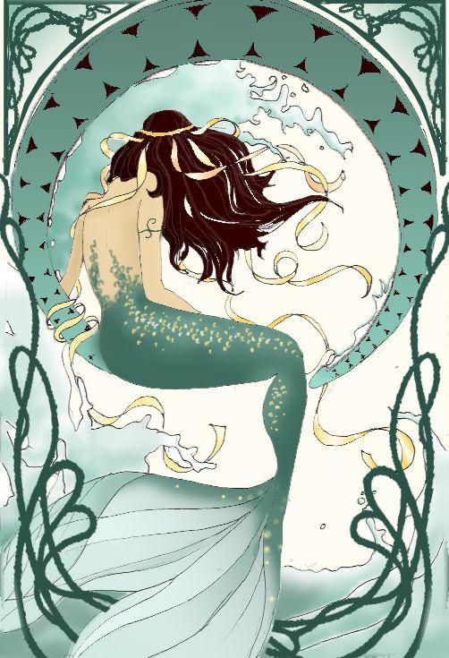mermaid art nouveau