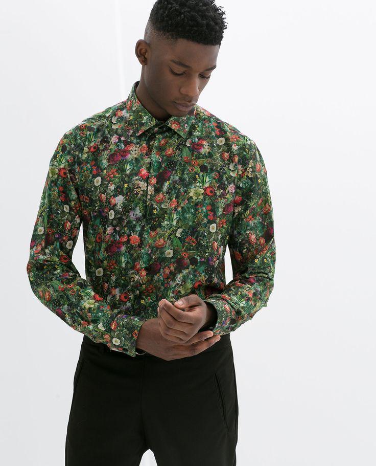 chemise imprim fleurs chemises homme zara france chemise fleurs pinterest zara. Black Bedroom Furniture Sets. Home Design Ideas