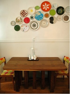Awesome bright plate wall