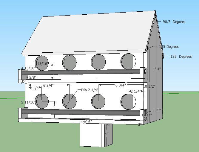 Amish Purple Martin Birdhouse Plans