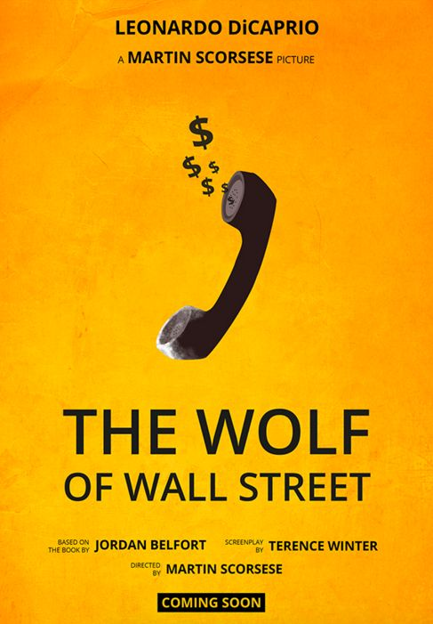 The Wolf of Wall Street (2013) ~ Minimal Movie Poster by Annabelle Ruiz #amusementphile