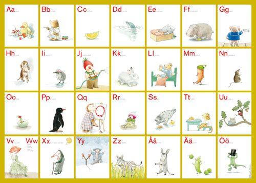 Lilla t ABC affisch + underlägg