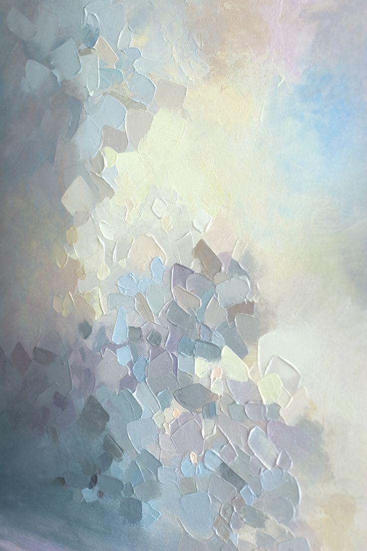 """Himmelsdetail von """"Summer Storm"""" 36 """"x36"""" Zeitgenössische abstrakte"""