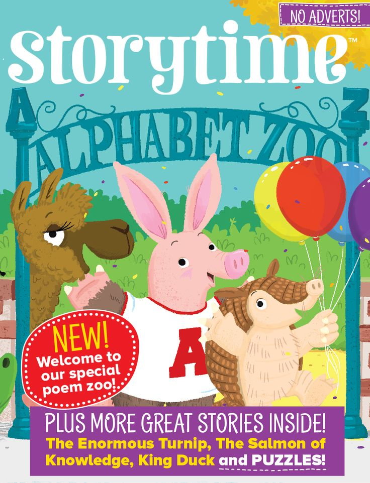 All-new Storytime Issue 29 invites you to join us at Alphabet Zoo - our new educational poetry series for kids! ~ STORYTIMEMAGAZINE.COM