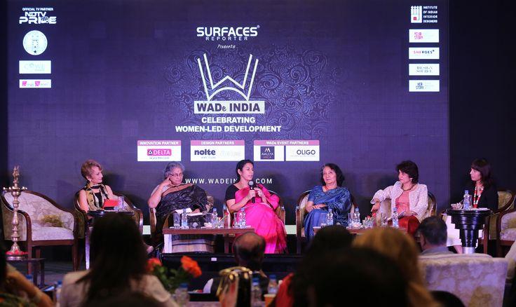 Panel discussion at WADe India - Ar. Sonali Bhagwati, Ar. Shiela Sri Prakash, Ar. Anupama Kundoo, Ar. Parul Zaveri and Ar. Canna Panel; moderated by Anuradha Chatterjee