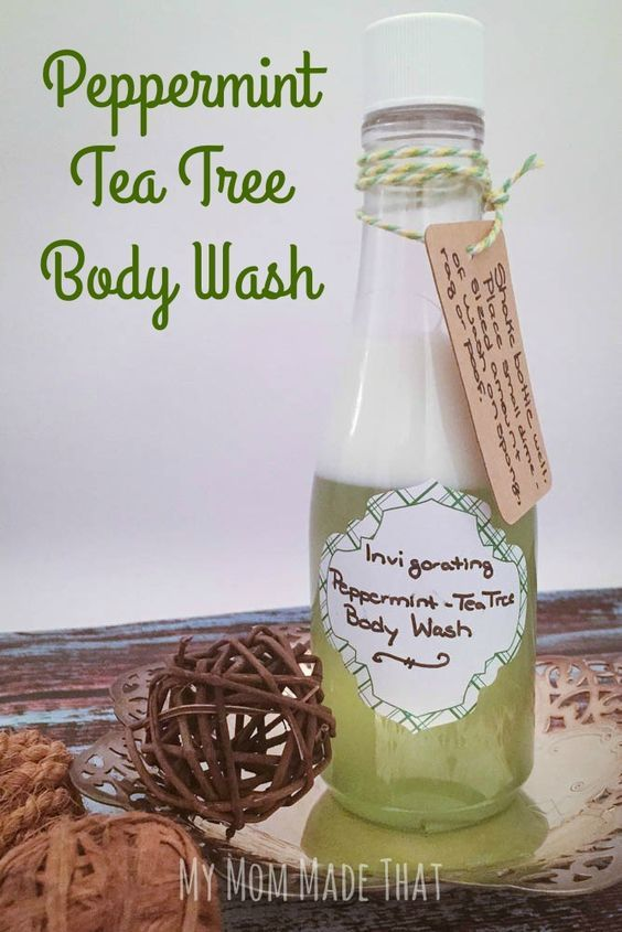 My Mom Made That: Peppermint Tea Tree Body Wash {DIY that is easy to make and so energizing and invigorating}