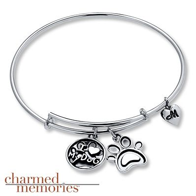 Charmed Memories Palm Tree Bangle Bracelet Sterling Silver W7PkK8JS6r