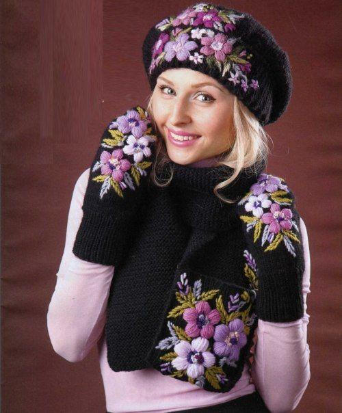 Мобильный LiveInternet Вязаный комплект с вышивкой | Natali_Vasilyeva - Дневник Natali_Vasilyeva |