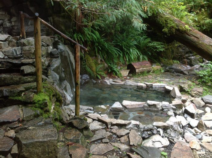 Goldmyer Hot Springs is a small piece of wilderness nestled in the foothills of the Cascade Mountains about 25 miles east of North Bend.