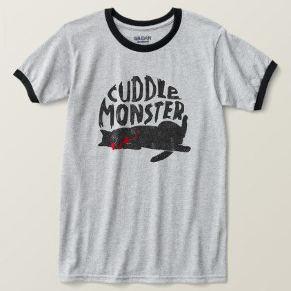 """""""Cuddle Monster"""" Faded Cat Tee - retro clothing outfits vintage style custom"""