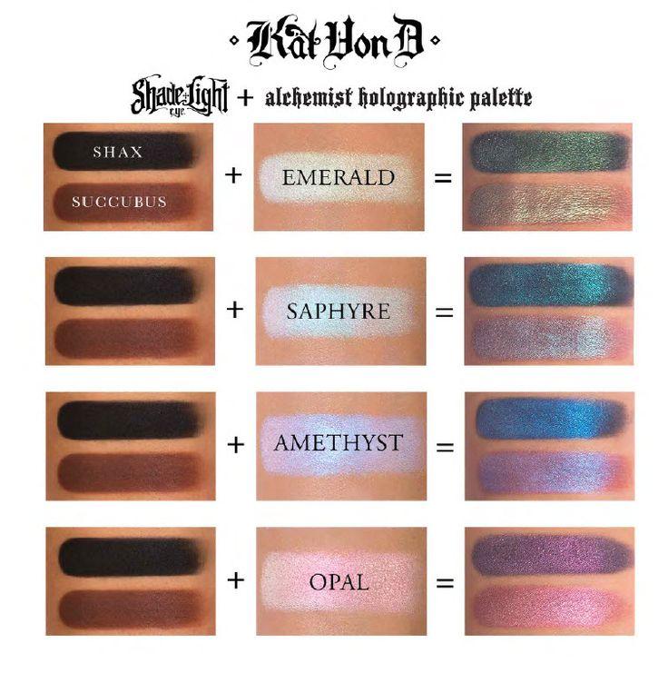 Shop Kat Von D's Alchemist Holographic Palette at Sephora. The eye, lip, and face transformer palette features four holographic shades.