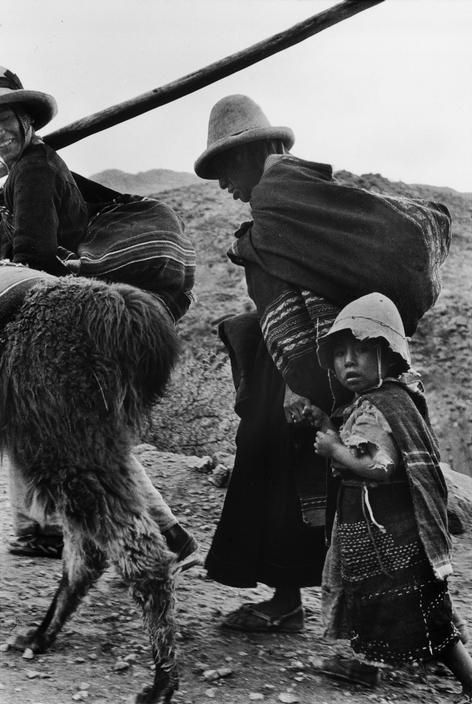 Sergio Larrain On the old Spanish road to Potosi. Bolivia, 1957
