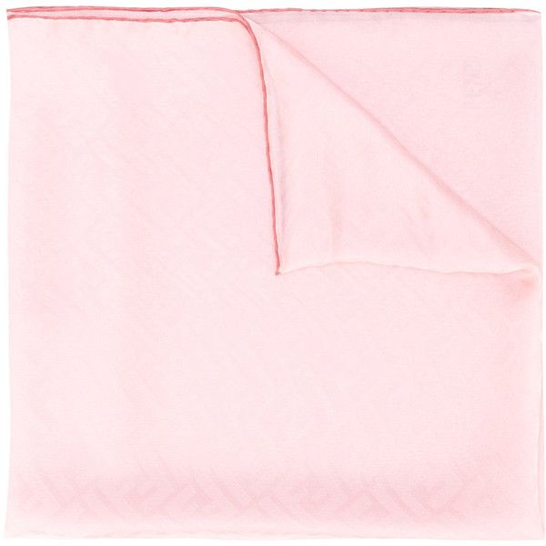 Fendi embossed scarf ($335) ❤ liked on Polyvore featuring accessories, scarves, pink, fendi shawl, silk shawl, fendi scarves, pink scarves and print scarves