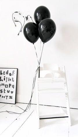 Via Ollie and Sebs Haus | Black and White | Birthday | Snug Studio