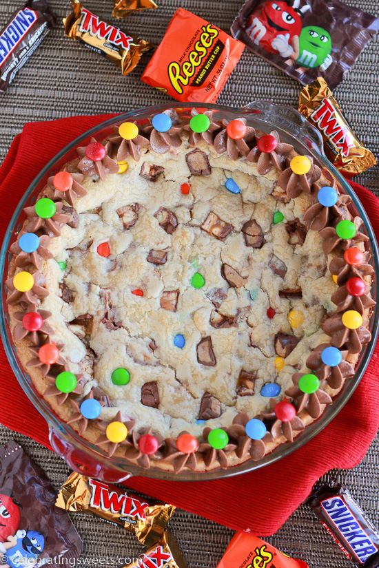 Candy Bar Cookie Pie | Celebrating Sweets