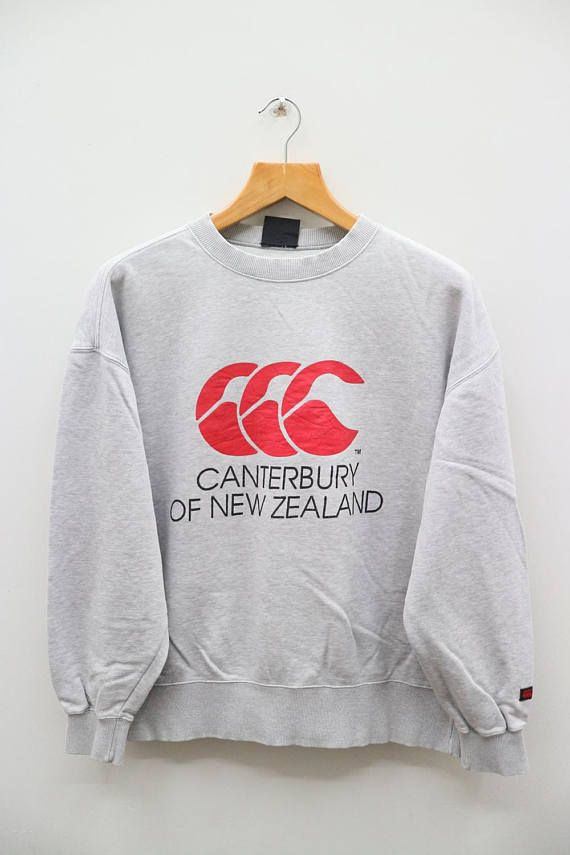Vintage Canterbury Of New Zealand Big Logo Sportswear Gray Sweatshirts Canterbury Of New Zealand Grey Sweater