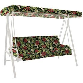 Garden Treasures Sanibel Black Tropical Tropical Glider Cushion For Glider AF09815X