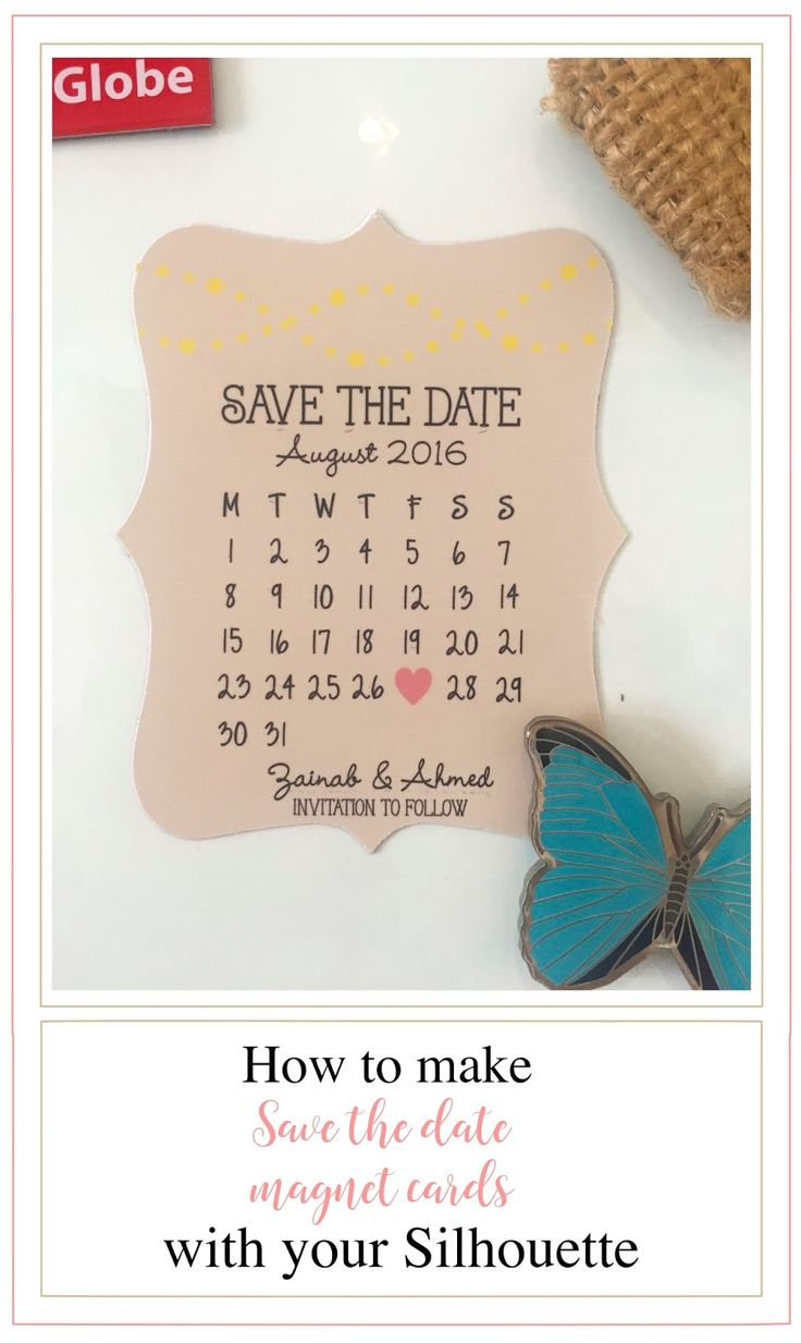 Best 25 silhouette cameo cards ideas on pinterest cameo cutter magnetic save the date cards sara talib for silhouette cameo uk magicingreecefo Images