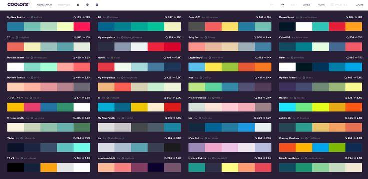 color palette generators, color palette combinations