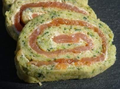 Roulé courgettes saumon sans levure ni boursin