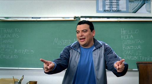 Carlos Mencia in Bud Light Classroom TV commercial
