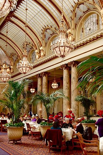 Palace Hotel, San Francisco. A great place to visit, right on Market Street. Great history. Also holds a Maxfield Parrish original, The Pied Piper.