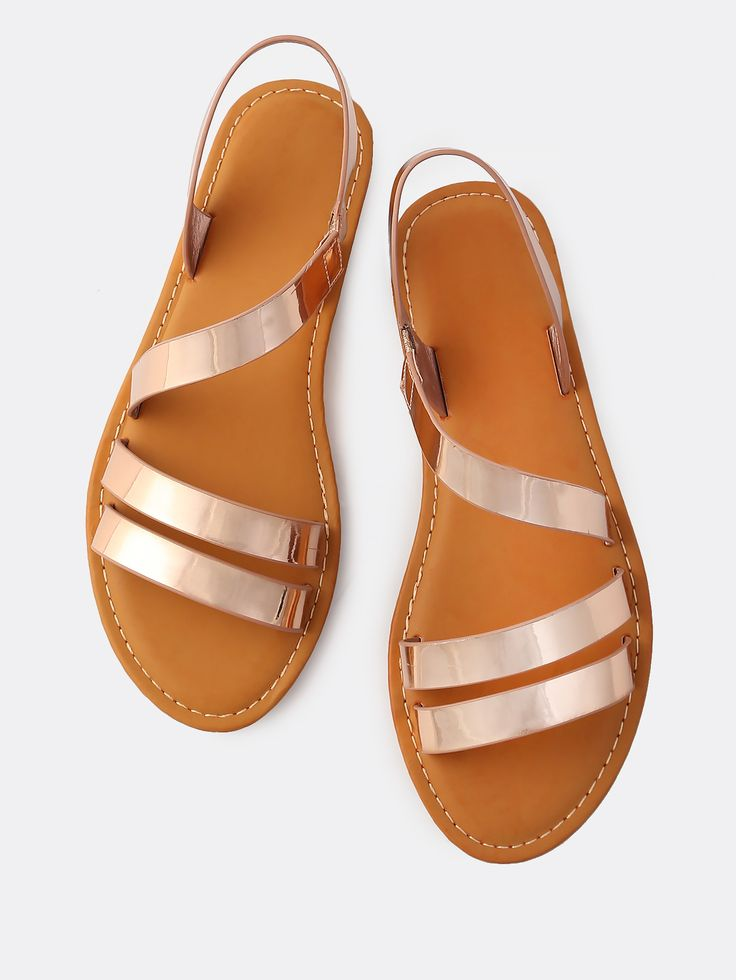 Shop Double Strap Wrap Metallic Sandals ROSE GOLD online. SheIn offers Double Strap Wrap Metallic Sandals ROSE GOLD & more to fit your fashionable needs.