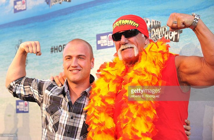 Wrestler Hulk Hogan (R) and son Nick Hogan arrive at the Comedy Central Roast Of David Hasselhoff held at Sony Pictures Studios on August 1, 2010 in Culver City, California. The 'Comedy Central Roast of David Hasselhoff' will air on Sunday, August 15, 2010 at 10:00 p.m. ET/PT.