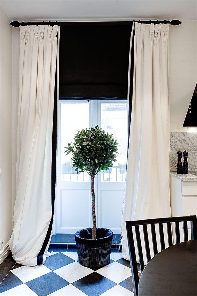 Great Studio Karin: OLIVTRÄD. Black BlindsBlack CurtainsDream HousesWindow ...