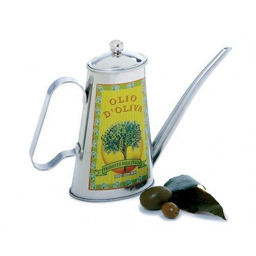 Magnifique huilier aux allures vintage pour conserver votre huile à l'abri de la lumière.