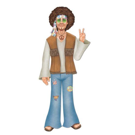 Hippie man jaren 60 decoratie