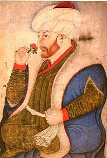 Mehmed II was Sultan of the Ottoman Empire for a short time from 1444 to September 1446, and later from February 1451 to 1481. At the age of 21, he conquered Constantinople and brought an end to the Byzantine Empire, absorbing its administrative apparatus into the Ottoman state.