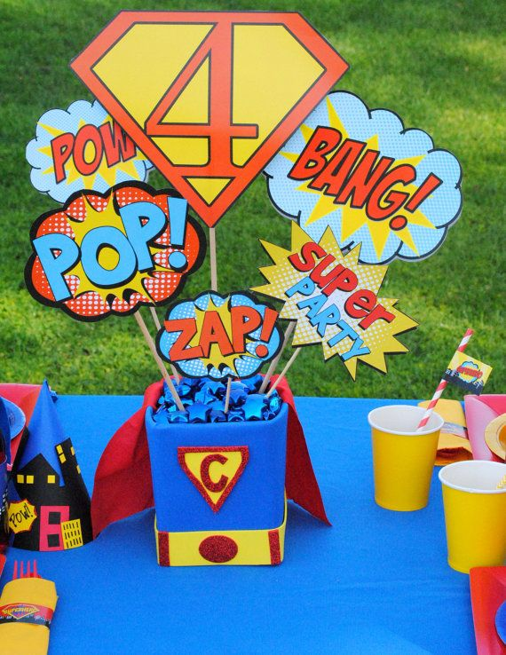 Superman Party Super Hero Party Superhero Party by PSLetsParty