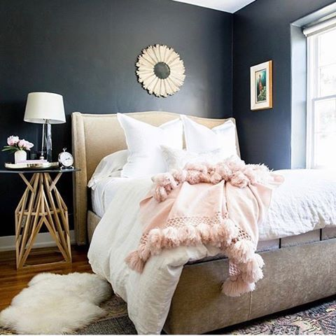 Dark feminine bedroom