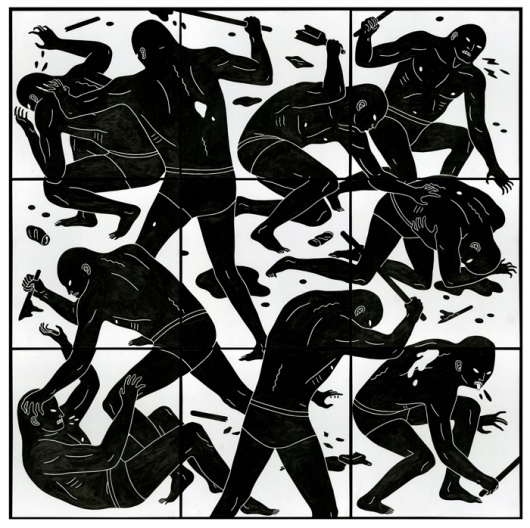 WAR, PEACE, AND CLEON PETERSON AT THE GUERRERO GALLERY: Woods Panels, Violent Paintings, Super Illustrations, Illustrations Inspiration, Contemporary Society, Based Artists, Art Contemporary, Art Sake, Cleon Peterson
