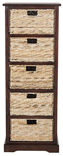 Fresh as a coastal breeze, this pretty and practical five-basket storage chest works equally well in a bathroom or bedroom. Crafted of pine with a cherry painted finish, the simple frame has rattan weave pull out drawers for easy organizing. [PLR] Instant Cash Magnet Biz In A Box Downsell [PLR]... more details available at https://furniture.bestselleroutlets.com/accent-furniture/storage-chests/product-review-for-safavieh-american-homes-collection-vedette-cherry-5-wicker-baske