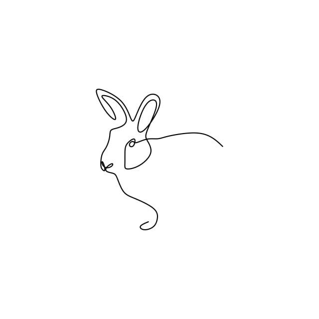 Line Drawings Keep On Rabbit Animals Simple Lines Outline Bunny Symbol Png And Vector With Transparent Background For Free Download In 2021 Line Art Drawings Simple Line Drawings Bunny Tattoos